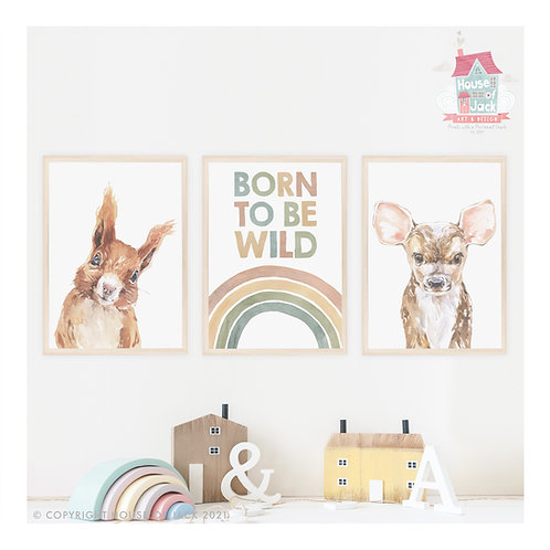 Once Upon a Woodland Pick and Mix Art Print Trio