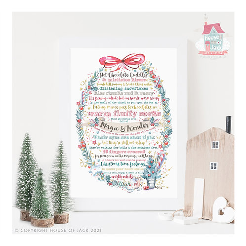 Christmas Poem - Art Print