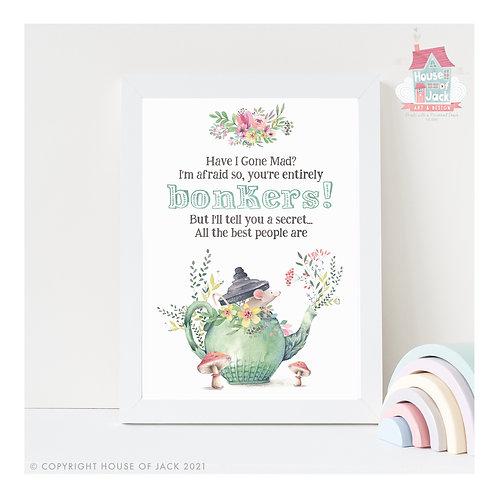 Bonkers Teapot - Art Print