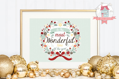 Wonderful Time - Personalised Art Print