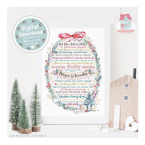 Christmas Poem Digital Art Print