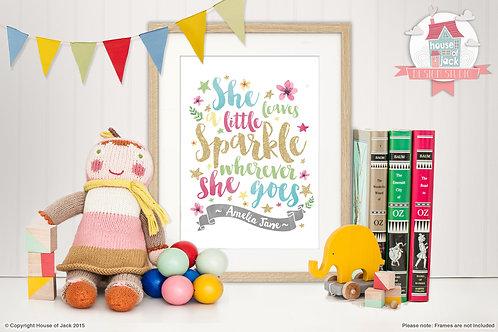 Sparkle Personalised Art Print