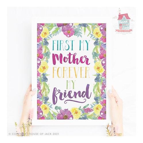 Forever Friend Mother / Daughter Art Print