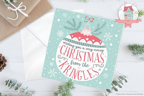 Christmas at The... Personalised Greetings Card