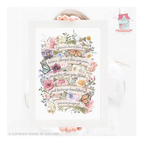 Floral Stronger Art Print