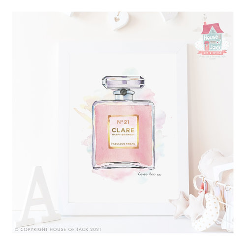 Scented with Love Personalised Art Print