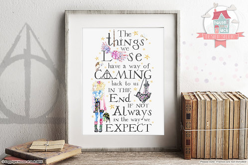 The Things We Lose (Luna) Potter Quote Art Print