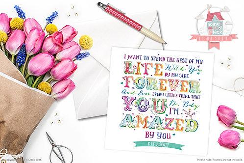 Amazed Personalised Greetings Card