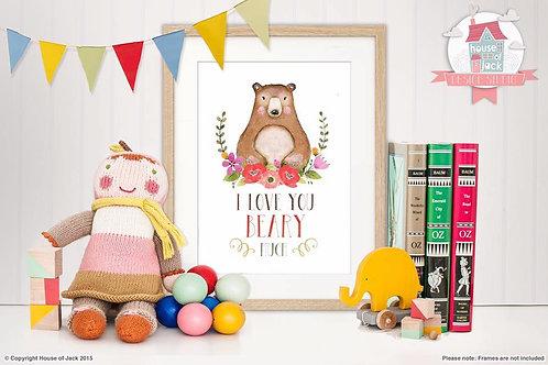 Woodland Bear Art Print