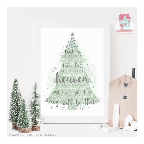 Christmas in Heaven Art Print