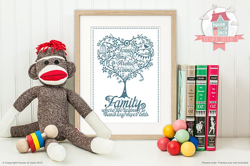 Family Tree Personalised Art Print
