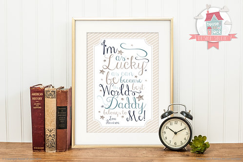 Lucky Personalised Art Print