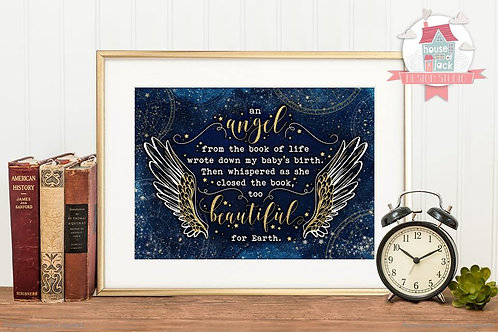 Angel Personalised Art Print