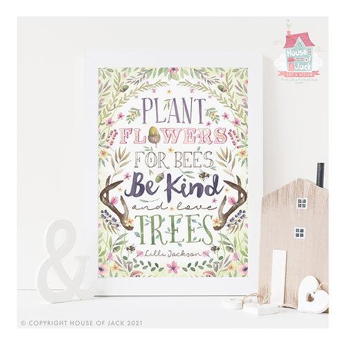 Fierce Woodland Quote Art Print