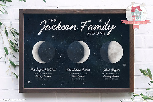 Family Moons Art Print
