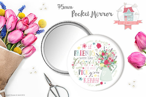 Like Flowers - Personalised Pocket Mirror