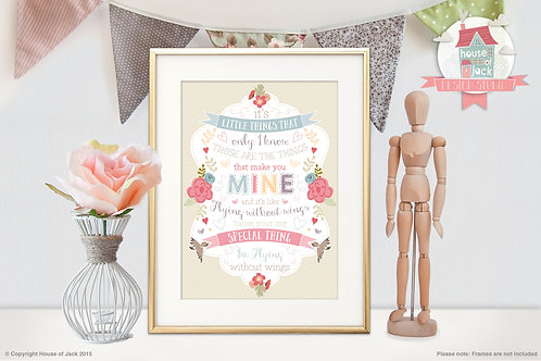 Without Wings Personalised Art Print  Are you a ho