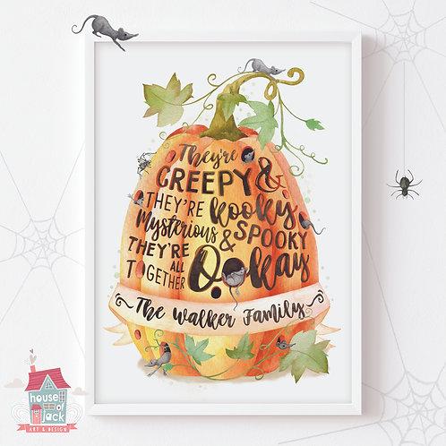 Pumpkin Family Song Art Print