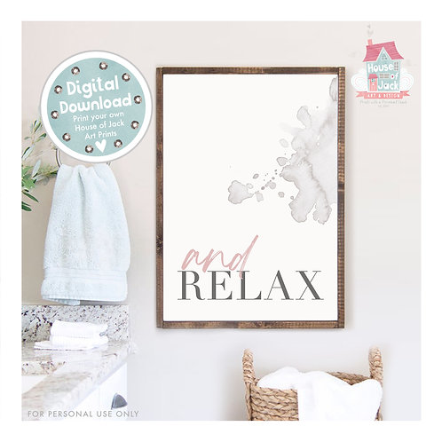Relax Bathroom Digital Art Print