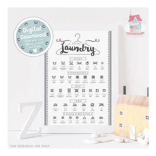 Laundry Digital Art Print