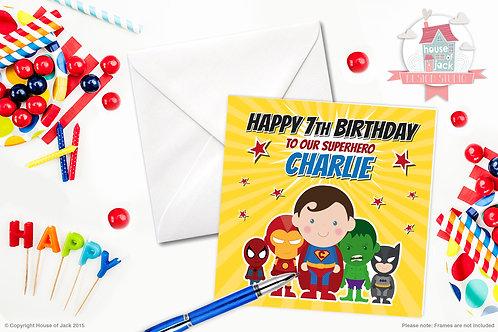 Jelly Tot Superhero Personalised Greetings Card
