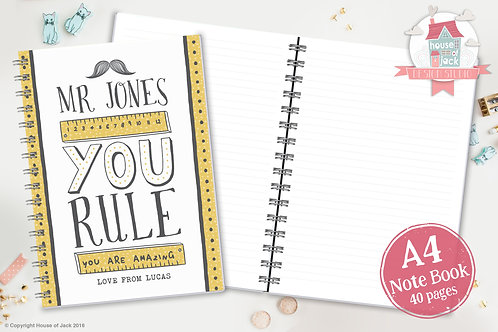 You Rule Personalised A4 Notebook