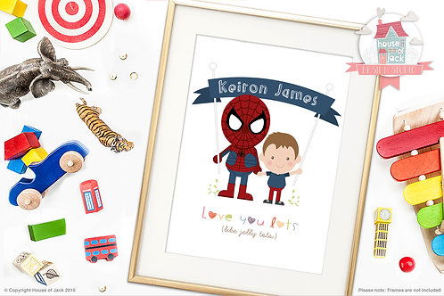 Jelly Tot with Superhero Personalised Art Print