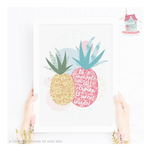 Tropical Pineapples - Art Print
