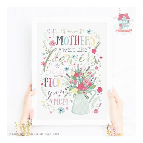 Like Flowers Personalised Art Print