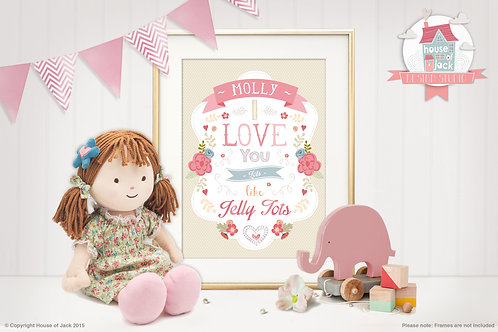 """""""Jelly Tots"""" Personalised Art Print"""
