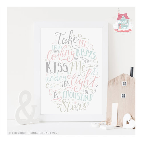 Thinking Out Loud Personalised Art Print