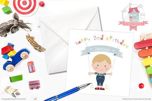 Jelly Tot Boy Personalised Greetings Card