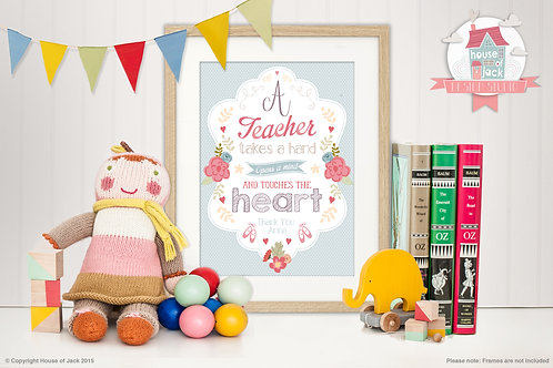 A Teacher Female Personalised Art Print