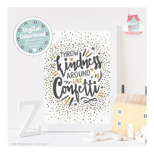 Confetti Digital Art Print