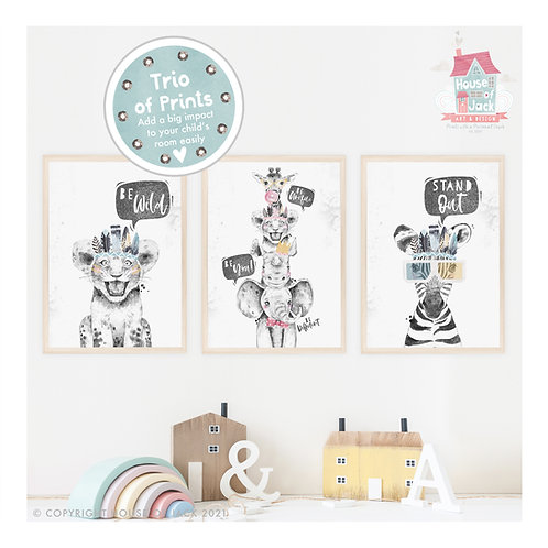 Wild At Heart Pick and Mix Art Print Trio