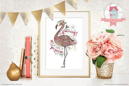 Flamingo Personalised Art Print
