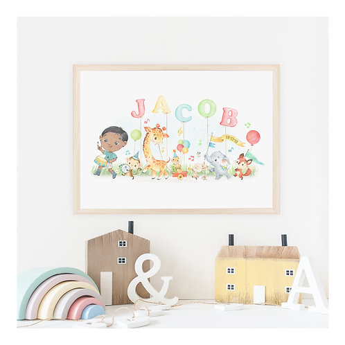 Birthday Parade Personalised Art Print