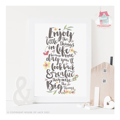 Little Things Floral Art Print
