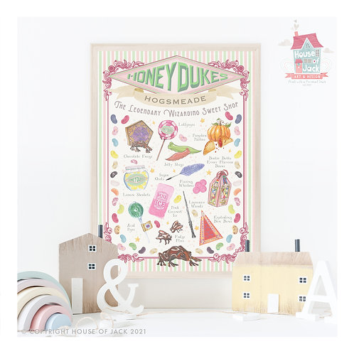 Honeydukes Art Print