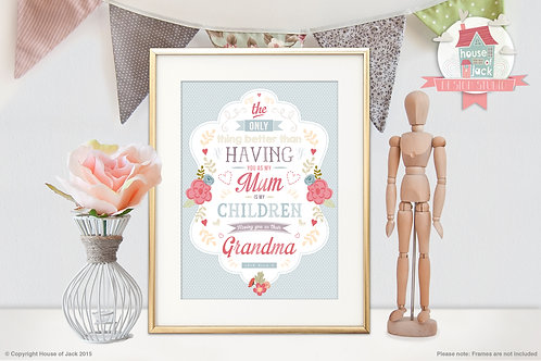 Only Thing Better Personalised Art Print