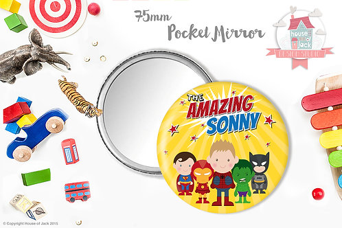 Superhero Jelly Tot Portrait - Pocket Mirror
