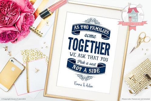 Wedding Sign Personalised Art Print