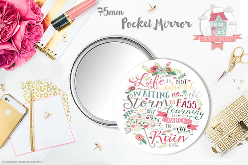 Dance in the Rain - Personalised Pocket Mirror