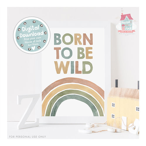 Born to be Wild Once Upon a Woodland Digital Art Print