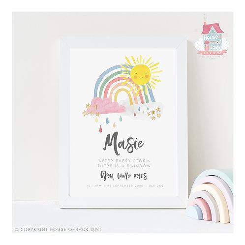 Rainbow Baby Personalised Art Print