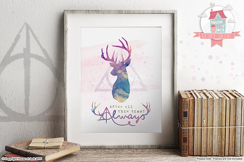 Always (Harry Potter Quote) Art Print