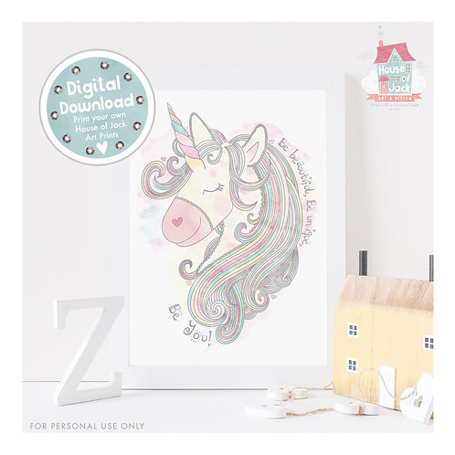 Unicorn Digital Art Print