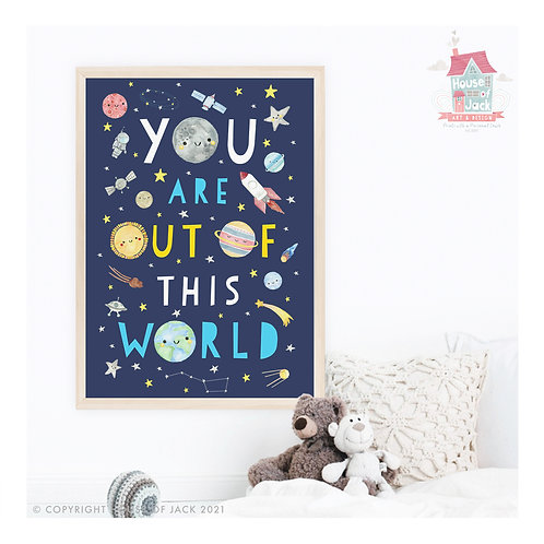 Solar System Out of This World Art Print