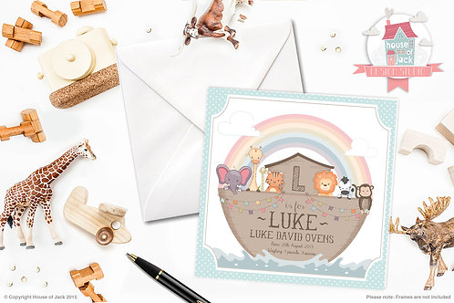 Noah's Ark Personalised Greetings Card