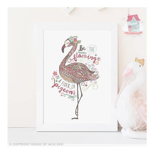 Flamingo Personalised Art Print